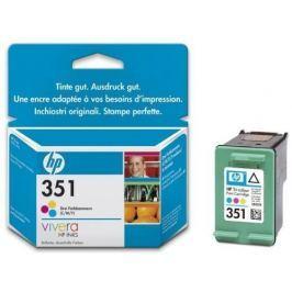 Hewlett - Packard Inkoustová náplň HP No. 351, 3,5 ml originální - červená/modrá/žlutá