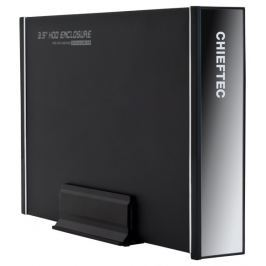 "Chieftec externí box pro 1x 3,5"" SATA HDD/ USB 3.0/ hliníkový/ černý"