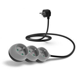 Connect IT prodlužovací kabel 230 V, 3 zásuvky, 1,5 m, bez vypínače (šedý)