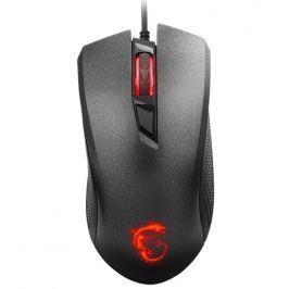 MSI Gear MSI myš Clutch GM 10 Gaming / 2400 dpi / 4 tlačítka / podsvícené logo  / USB