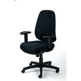 MAYAH Manažerská židle Bubble, textilní, černá, černá základna,
