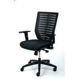 MAYAH Manažerská židle Superstar, textilní, černá, černá základna,