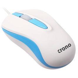 Crono myš CM642/ optická/ drátová/ 1000 dpi/ USB/ modro-bílá