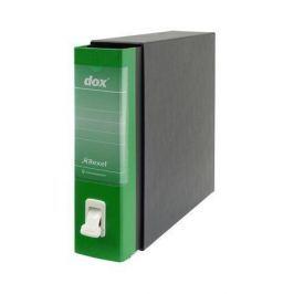REXEL Pákový pořadač s obalem Dox, zelená, 85 mm, A4, karton