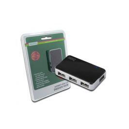 Digitus USB 2.0 hub, Vysokorychlostní rozbočovač 4-porty, černý, vč. napájecího