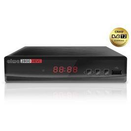 ALMA DVB-T2 HD přijímač 2800 s kodekem HEVC/ Full HD/ MPEG2/ MPEG4/ H.265/HEVC/