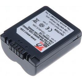 T6 POWER Baterie  Panasonic DMW-BMA7, CGR-S006, CGR-S006E, CGA-S006, 710mAh, modr