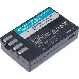 T6 POWER Baterie  Pentax D-Li109, 1100mAh, černá