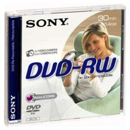 Sony DVD-RW disk 1.4 GB, 1 ks, 8 cm