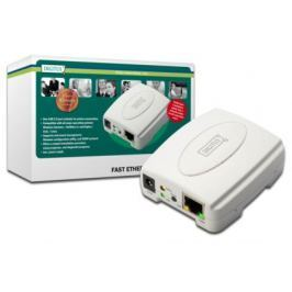 Digitus USB Print Server, 1-Port, 1x RJ45, 1x USB A, USB 2.0 For all common O/S