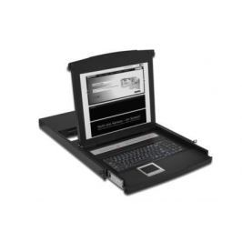 """Digitus Console 48,3cm (19"""") TFT, US keyboard, 16-Ports,touchpad, 1U RAL 9005 bl"""