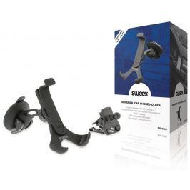 Sweex DS110V2 - univerzální držák telefonu do auta na sklo/ventilaci, černý