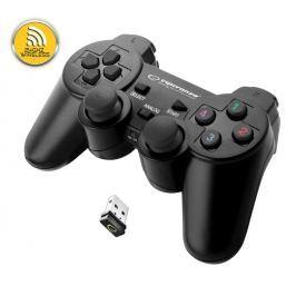 Microsoft Esperanza EGG108K GLADIATOR bezdrátový gamepad s vibracemi pro PC/PS3, černý