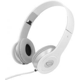 Esperanza EH145W TECHNO Stereo sluchátka, skládací, ovl. hlasitosti, 3m, bílá