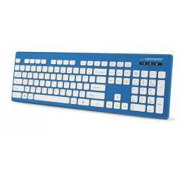Esperanza EK130B SINGAPORE voděodolná klávesnice, EN layout, USB, modrá