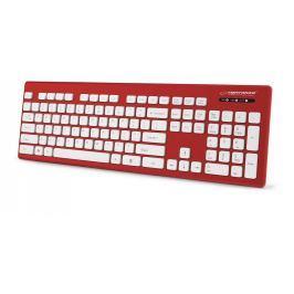 Esperanza EK130R SINGAPORE voděodolná klávesnice, EN layout, USB, červená