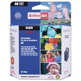 ActiveJet Inkoust  AH-727 | Black | 20 ml | Refill | HP C8727A
