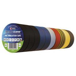 EMOS Páska PVC 19 x 0,13 mm x 20 m 10 ks barevné
