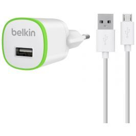BELKIN USB nabíječka, 5V, 1A+kabel micro USB, bílá