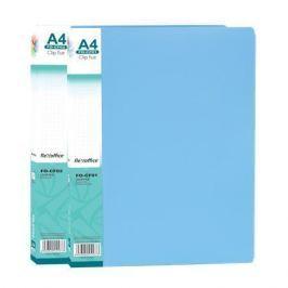 FLEXOFFICE Desky s rychlosvorkami FO-CF01, modrá, A4, PP,