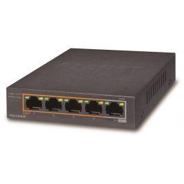 PLANET Technology Corp. PLANET FSD-504HP Switch 5x 10/100 port, 4x PoE 802.3af, 60W, miniaturní rozměr,