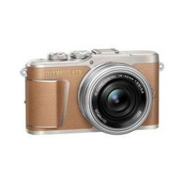 Olympus E-PL9 1442 Pancake Zoom Kit brown/silver