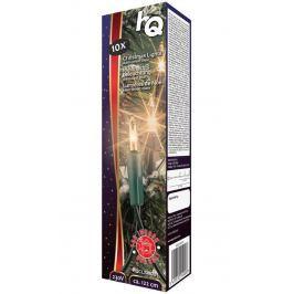 HQ vánoční osvětlení/ 10x klasická mini žárovka/ 10,8W/ 1220 mm/ teplá bílá/ int