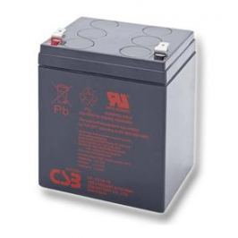 CSB BATTERY Baterie CSB, Baterie CSB, 12V, kapacita 5,1, 60/90, Faston 6,3, d90mm š70mm v106