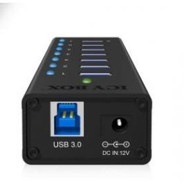 RAIDSONIC ICY BOX IB-AC618 externí hliníkový USB HUB (7x USB 3.0- 1x nabíjecí),