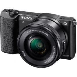 AMC SONY ILCE-5100 Fotoaparát Alfa 5100 s bajonetem E + 16-50mm objektiv  - Black
