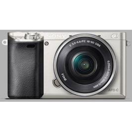 Sony Fotoaparát  Alpha A6000 + 16-50mm, stříbrný