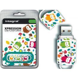 INTEGRAL Xpression 16GB USB 2.0 flashdisk, vzor sovy