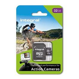 INTEGRAL micro SDHC/SDXC for Action Camera Card (tested with GoPro), 32GB