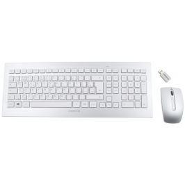 CHERRY set klávesnice + myš DW 8000/ bezdrátový/ USB/ bílostříbrný/ CZ+SK layout