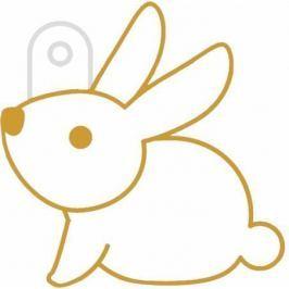 AMOS Dekorace do okna, hra se světlem, šablona malý králíček