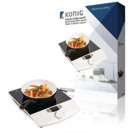 König KN-INDUC-10 - Indukční Vařič 2000 W Bílá/Černá