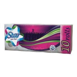 NO NAME Toaletní papír, 3-vrstvý, 10 rolí, Star