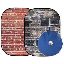 Lastolite Urban Collapsible 1.5 x 2.1m Red Brick/Grey Stone (LB5711)