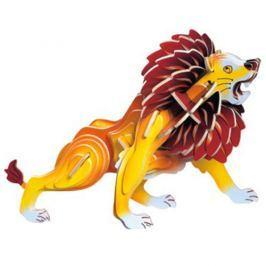 Dřevěné 3D puzzle dřevěná skládačka zvířata - Malý lev MC028