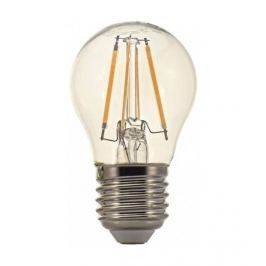TESLA Žárovka LED  Crystal Retro miniglobe, 4W, E27, teplá bílá