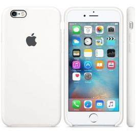 Apple Kryt na mobil  Silicone Case pro iPhone 6S - White