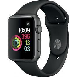 Apple Watch Series1 42mm vesmírně šedý hliník s černým sportovním řemínkem