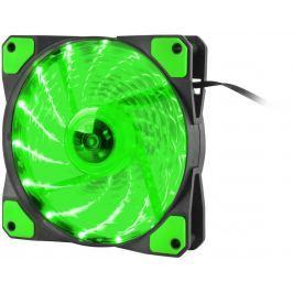 NATEC Ventilátor Genesis Hydrion 120, zelené LED, 120mm