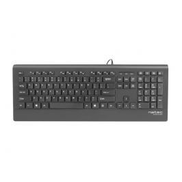 Natec Mulitmedia Keyboard BARRACUDA Slim USB, US layout, Black