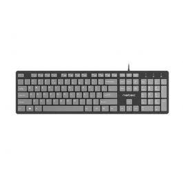 Natec Keyboard Discus SLIM Black/Grey, USB, US Layout