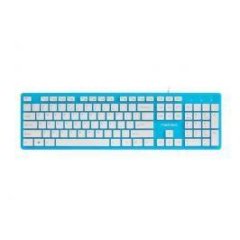 Natec Keyboard Discus SLIM Blue/White, USB, US Layout