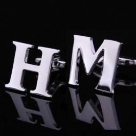 Manžetové knoflíčky písmeno H M