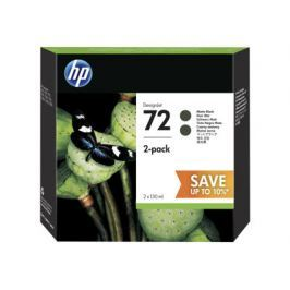 HP 72 130ml Black Ink Crtg 2-Pack