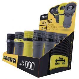 EMOS LED svítilna plastová, 1x LED 3W, na 3x AAA, FOKUS, box 12ks