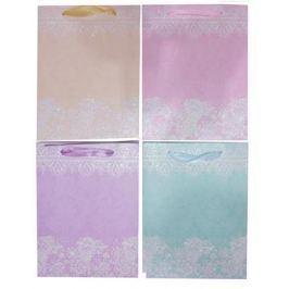 NO NAME Dárková taška, třpytky, krajky, 4 různé vzory, 26x10x32 cm